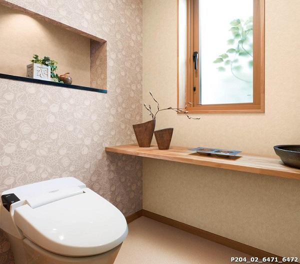 Một mẫu giấy dán tường dùng cho nhà vệ sinh