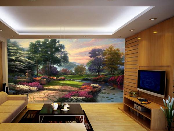Dùng tranh hay giấy dán tường để trang trí nội thất đang là xu hướng làm đẹp cho ngôi nhà hiện nay