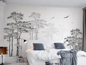 Giấy dán tường phong cách 3d