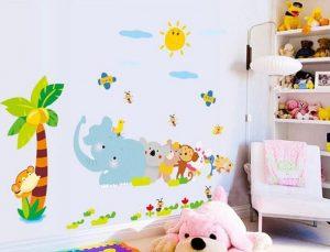Giấy dán tường trẻ em nhiều màu sắc